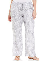 plus size georgette pants