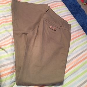 womens brown dress pants