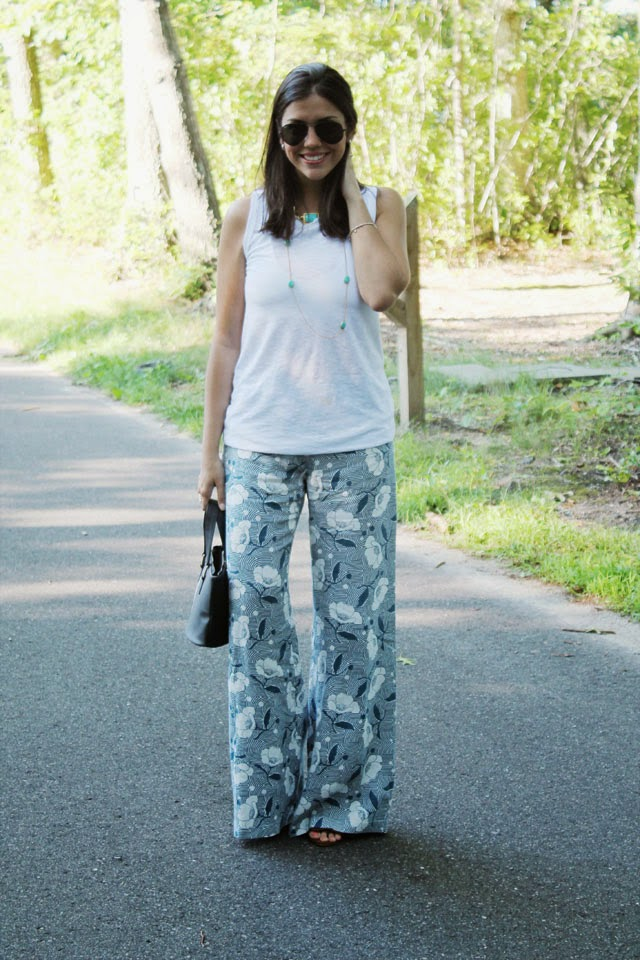 flower harem pants